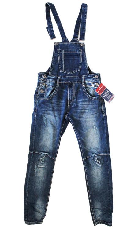 Immagine di Saloppette jeans autunno ragazzo Small Gang Art. F5316