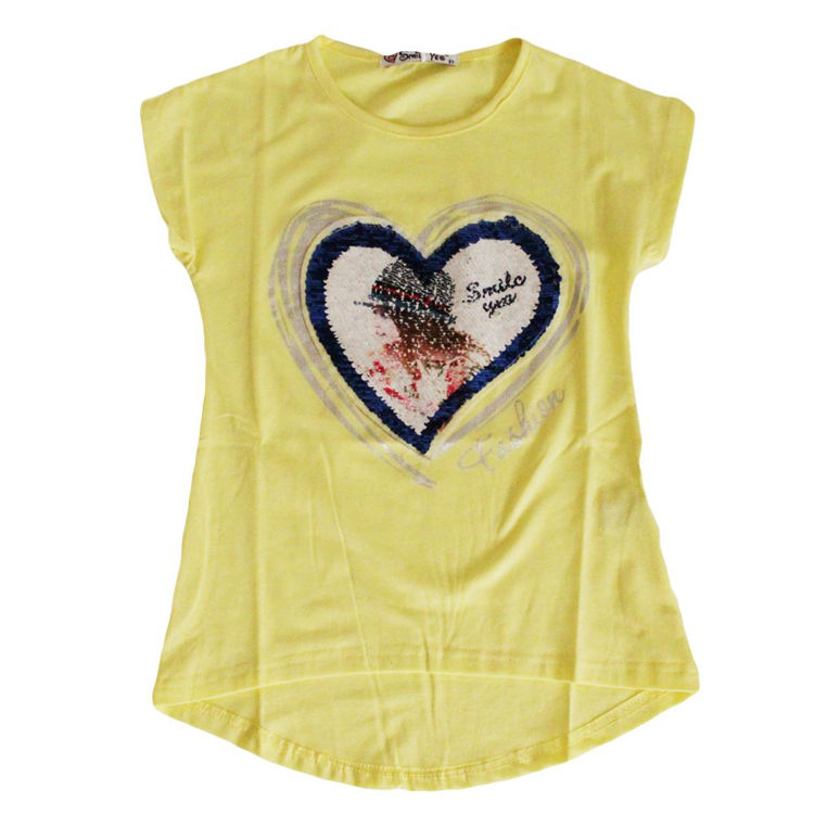 Immagine di T-shirt bambina Smile Yes Art. MBA722