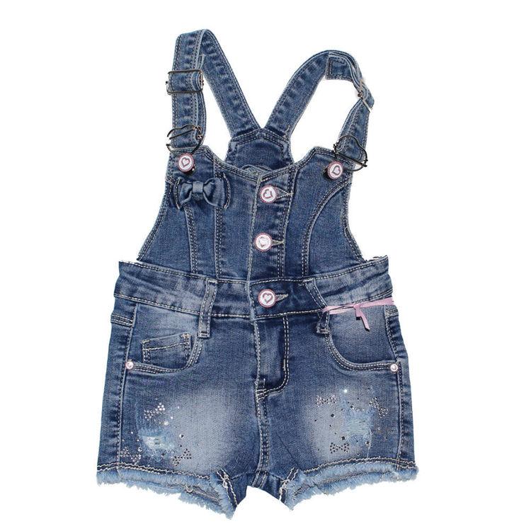 Immagine di Salopette Jeans neonata Miss Bellina Art. ZNA2077