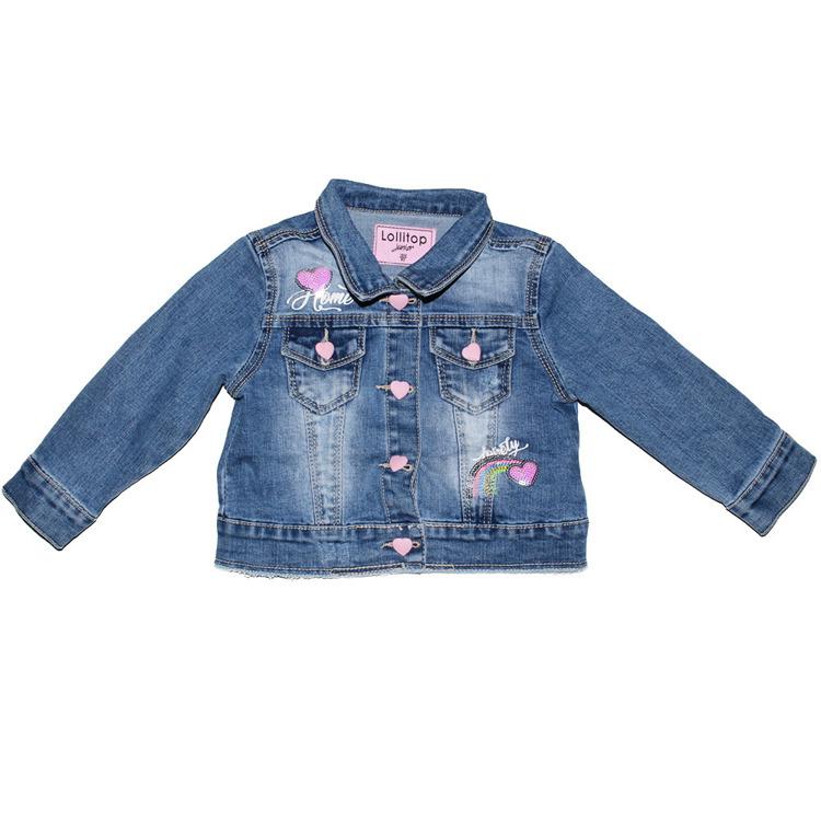 Immagine di Giubbino in jeans neonata primavera Lollitop Art. S2281