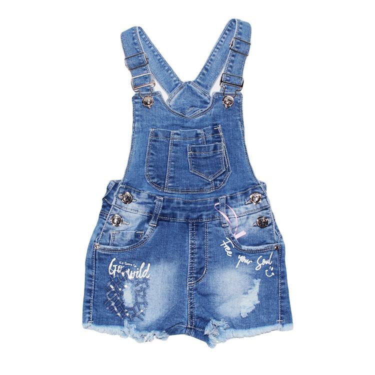 Immagine di Saloppette Jeans bambina Miss Bellina Art. ZBA2079