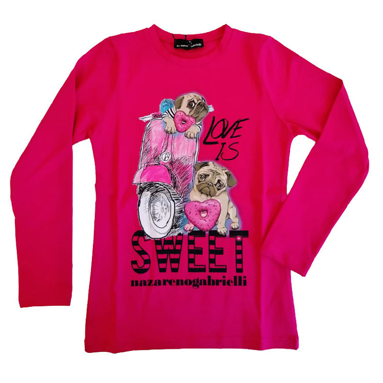 Immagine di T-shirt m/l bambina primavera Nazareno Gabrielli Art. NG182/1
