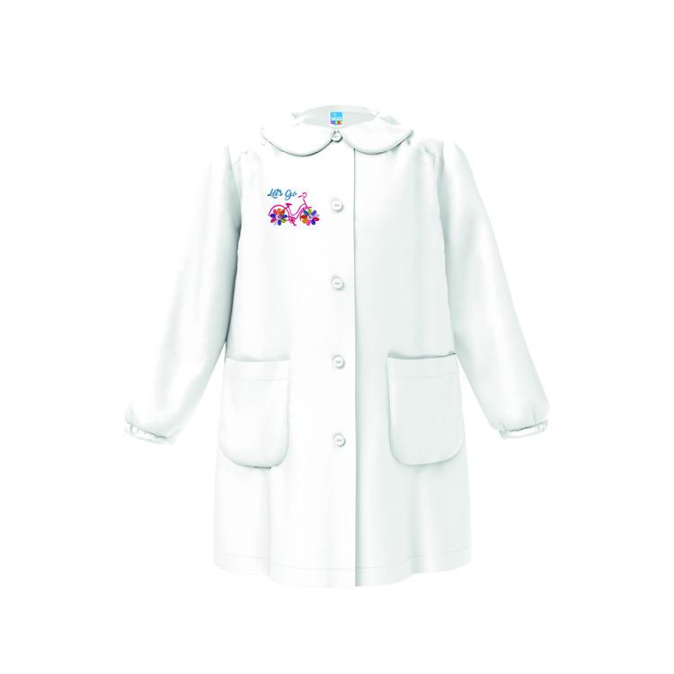 Immagine di Grembiule asilo Bianco - Quadri Rosa bambina Siggi Art. 3569